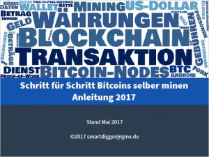 Schrit für Schritt Bitcoins Minen